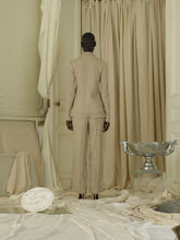 Load image into Gallery viewer, Crunched Linen-Blend Jacket - Sand