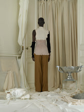 Load image into Gallery viewer, Tailored Linen-blend Trousers - Terra