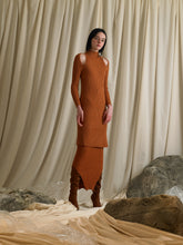 Load image into Gallery viewer, Rib-knit Skirt - Burnt Orange