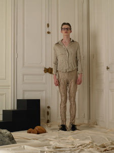 Crushed Elongated Trousers - Sand