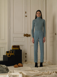 Tailored Linen Trousers - Ocean
