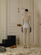 Load image into Gallery viewer, Rib-knit Techno Top - Cream