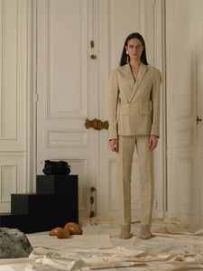 Tailored Linen Trousers - Sand