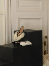 Load image into Gallery viewer, Artisanal Folie Mules - White / Black