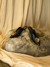 Load image into Gallery viewer, Artisanal Maros Mules - Black/Gold