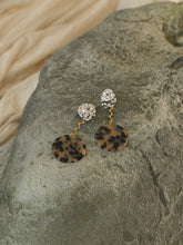 Load image into Gallery viewer, Dara Earrings - White Gold/Brown