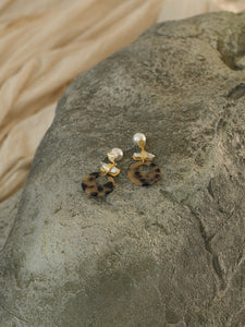 Aida Earrings - Gold/Brown