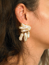 Load image into Gallery viewer, Vanura Earrings - Gold/White - Pair