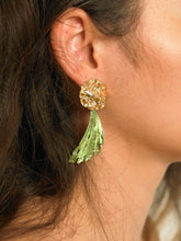 Load image into Gallery viewer, Masora Earrings - Gold/Amos Green - Pair