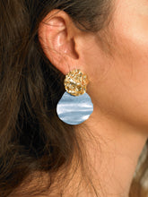 Load image into Gallery viewer, Lakos Earrings - Gold/Azur - Pair