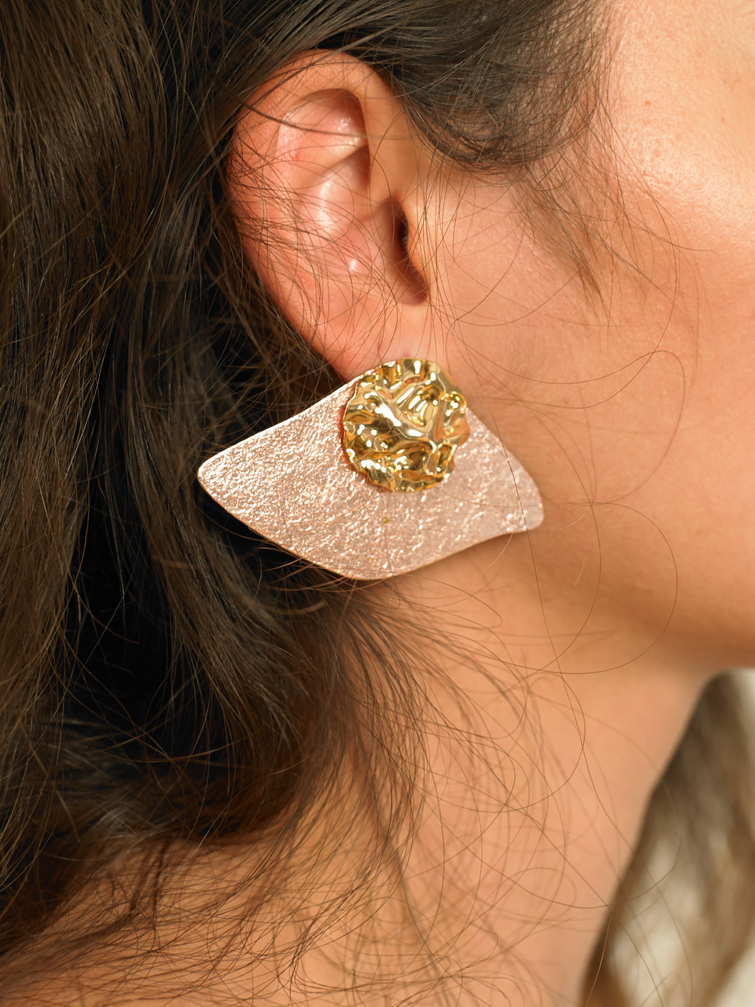 Maros Earrings - Gold/Rosé  - Pair