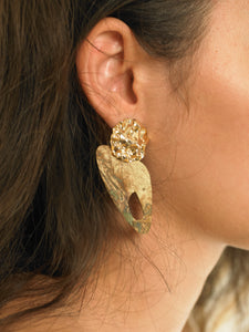 Samu Earrings - Gold/Sedo - Pair