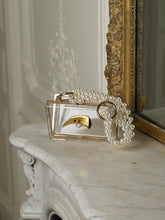 Load image into Gallery viewer, Artisanal Translucent Fernado Clutch - Pearl/Gold