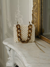 Load image into Gallery viewer, Artisanal Lakari Pearl Clutch - Pearl/Gold