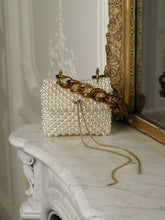 Load image into Gallery viewer, Artisanal Lalina Pearl Clutch - Pearl/Gold