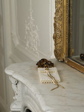 Load image into Gallery viewer, Artisanal Romanoeva Pearl Clutch - Pearl/Gold