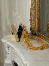 Load image into Gallery viewer, Artisanal Gaia Chain Horn Clutch - Soleil/Gold