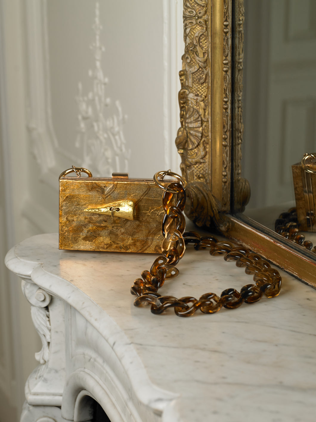 Artisanal Gaia Chain Clutch - Earth/Gold