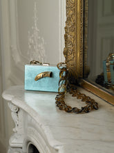 Load image into Gallery viewer, Artisanal Gaia Chain Clutch - Ocean/Gold