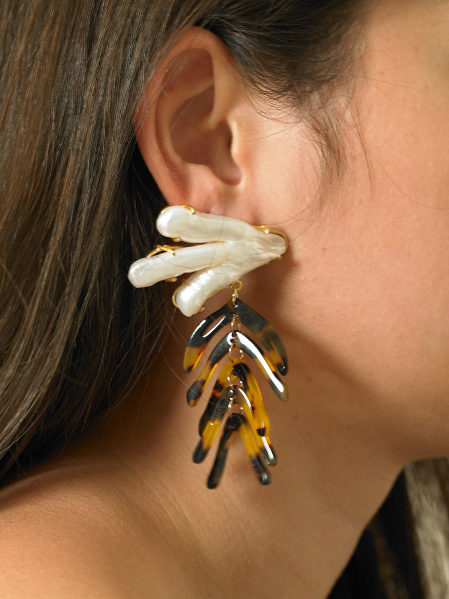 Vanura Tigré Earrings - White/Tigré