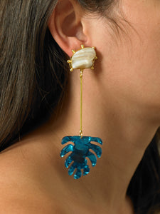 Ulus Earrings - Gold/Azura
