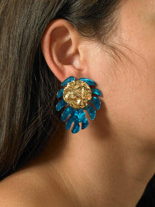 Boha Earrings - Gold/Azura