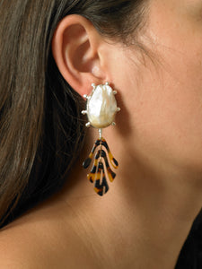 Sola Tigré Earrings - White/Tigré