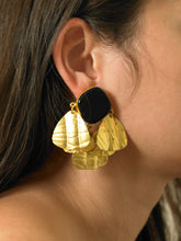 Load image into Gallery viewer, Triana Earrings - Gold/Black