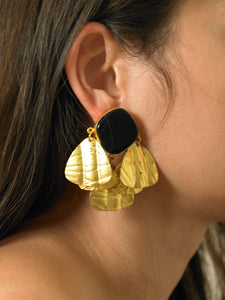 Triana Earrings - Gold/Black