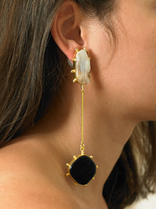 Natu Earrings - Gold/Black