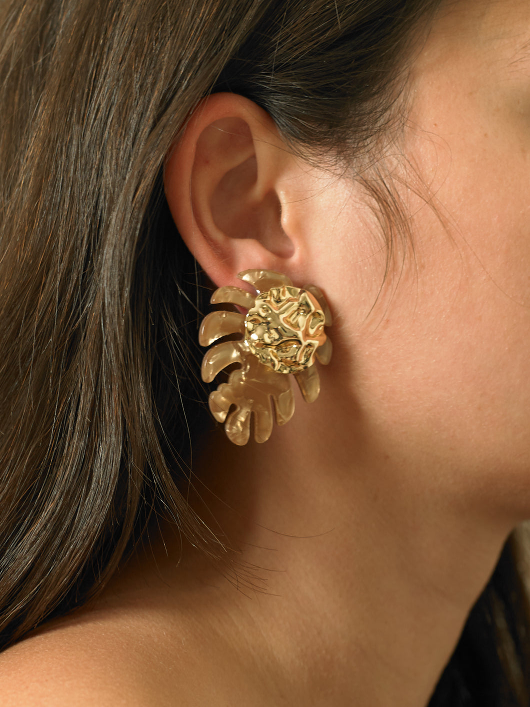 Boha Earrings - Gold/Rosa