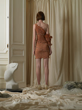 Load image into Gallery viewer, Techno-pleat Dress - Orange