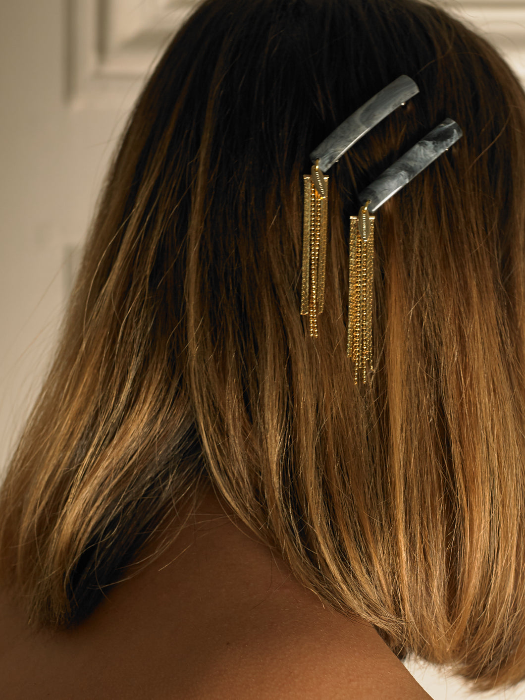 Arun Hair Barrette (Set) - Azur/Gold