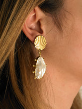 Load image into Gallery viewer, Dyome Earrings - Gold/White