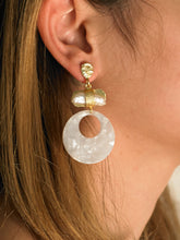 Load image into Gallery viewer, Anadia Earrings - Gold/White