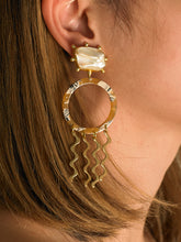 Load image into Gallery viewer, Sula Earrings - Gold/Beige