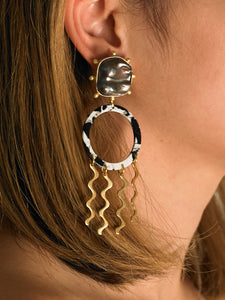 Camea Earrings - Gold/Black