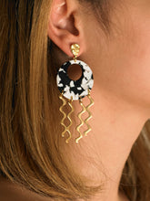 Load image into Gallery viewer, Adal Earrings - Gold/Black