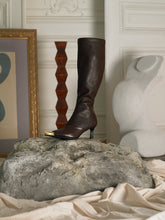 Load image into Gallery viewer, Artisanal Skala High Boots - Brown/Gold