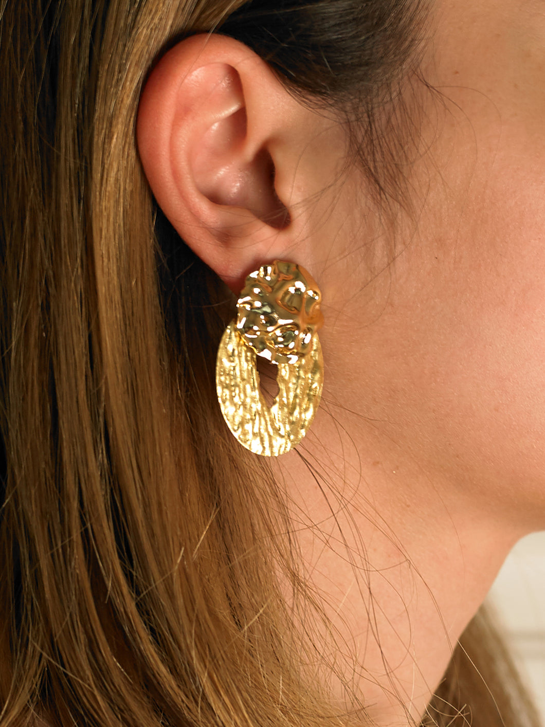 Mena Earrings - Gold