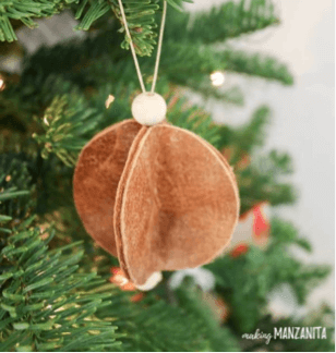 Leather Tree Ornament DIY
