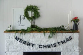 Genuine Leather Christmas Garland Decoration Ideas DIY