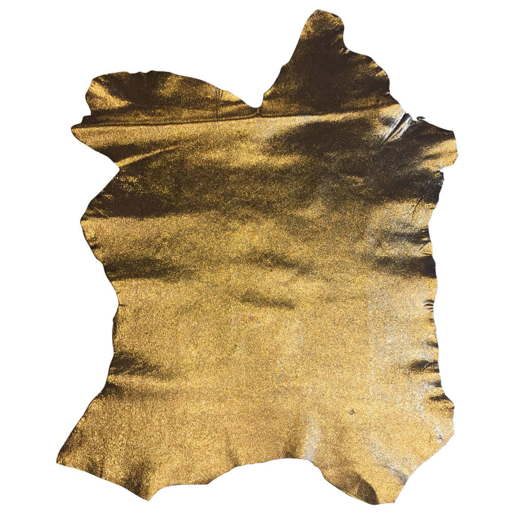 Gold Lambskin Leather Hides Perfect for Crafting, Sewing and Upholstery Projects