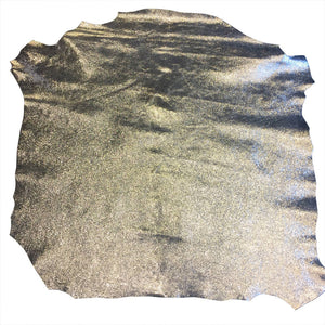 Silver Metallic Genuine Leather Hides for Crafting