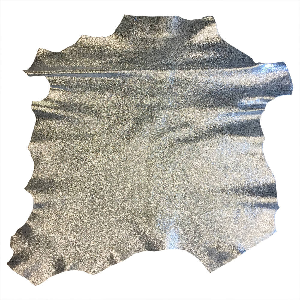Silver Genuine Leather Hides for Sale for Crafting
