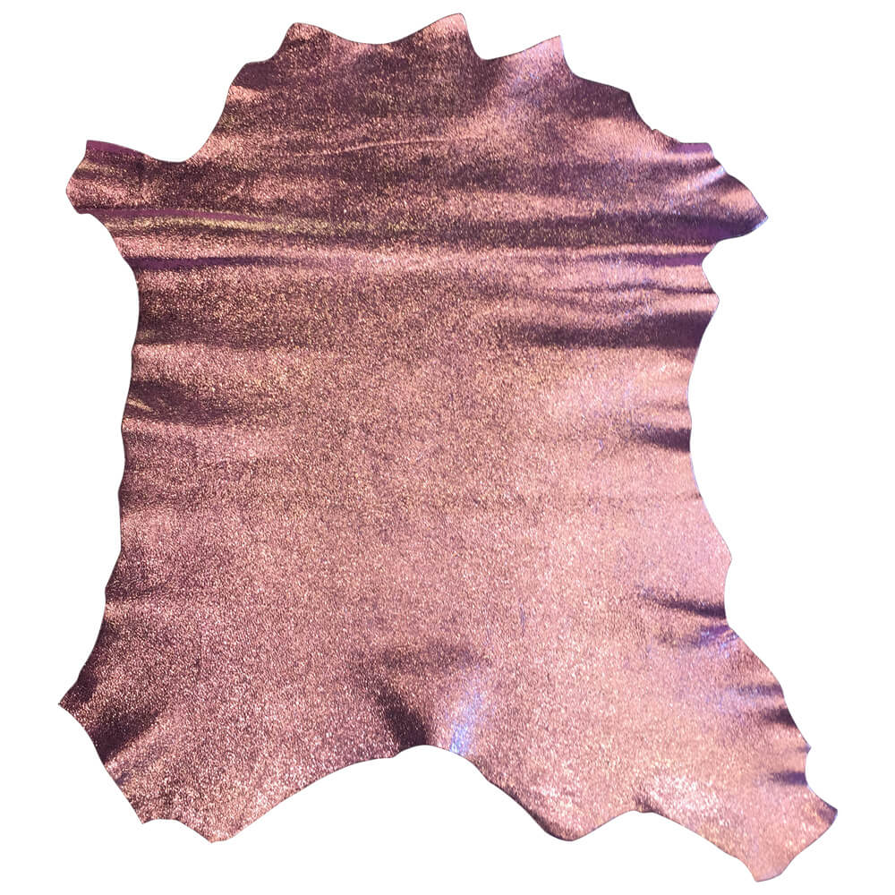 Metallic Genuine leather hides for crafting and sewing fabric