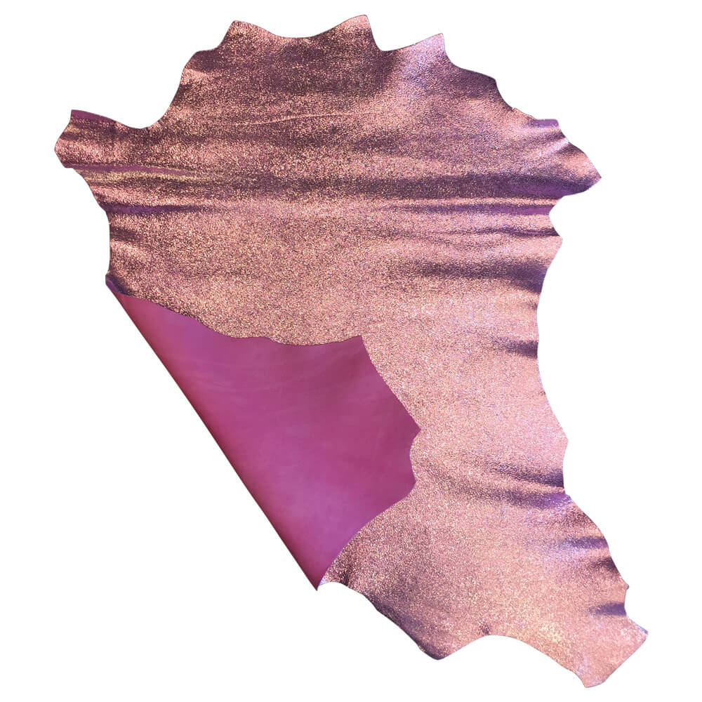 Pink Genuine leather hides for sale