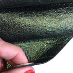 Green Textured Genuine Leather Hides for Crafting and DIY Sewing Projects