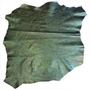 Green Genuine Leather Hides for Sale Perfect for Crafting