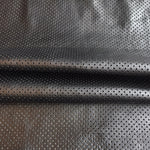 Buy Genuine Black Perforated Leather Hides crafting, upholstery, sewing fabric